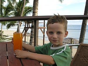 Axel dricker Fanta