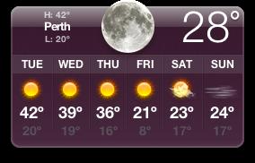 Perth varmt