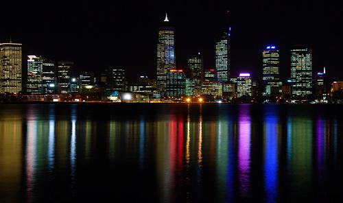 Perth på natten
